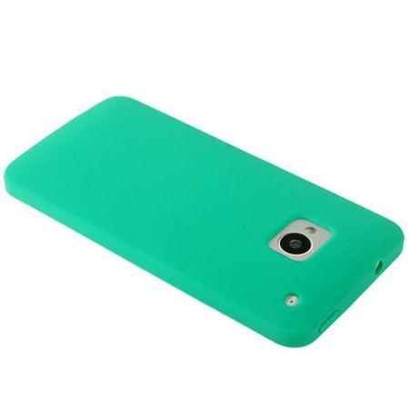 Schutzhülle Silikon Case für Handy HTC One M7 Grün – Bild 4