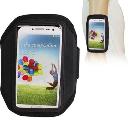 Tasche Armband für Samsung Galaxy S4 GT-I9500 / GT-I9505 / LTE+ GT-I9506 / Value Edition GT-I9515 Schwarz