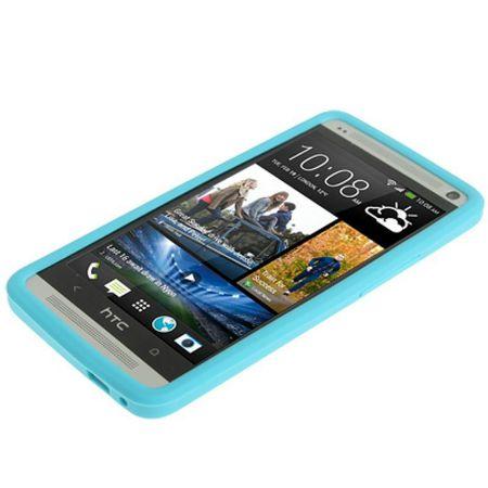 Schutzhülle Silikon Case für Handy HTC One M7 Hellblau – Bild 2