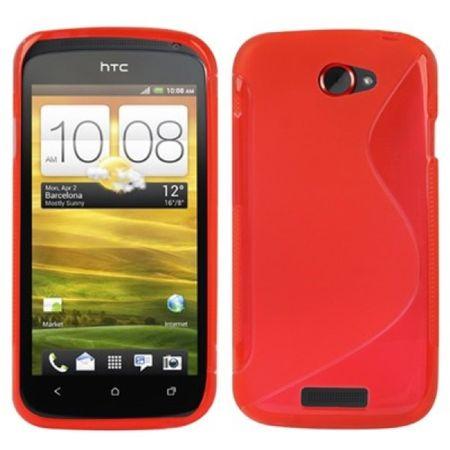 Schutzhülle Case Hülle für HTC One S / Z520e Rot
