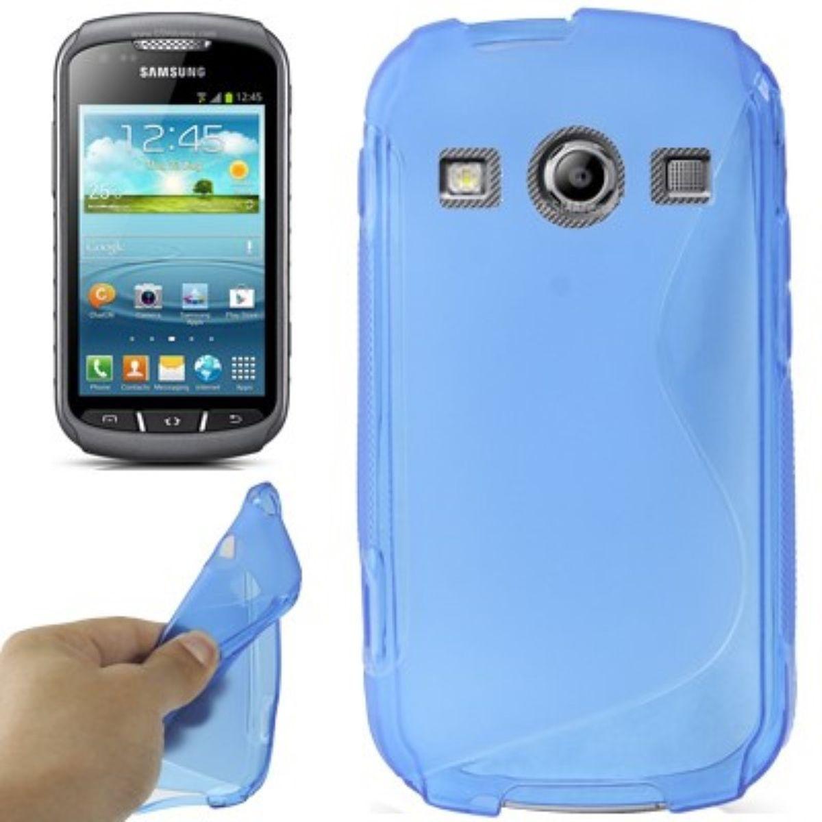 S-Line TPU Case für Samsung Galaxy Xcover2 S7710 blau