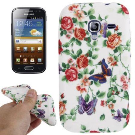 Schutzhülle TPU Case für Handy Samsung Galaxy Ace 2 i8160 Rosen