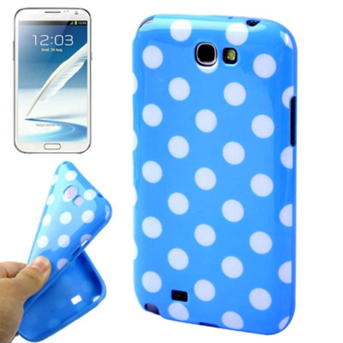 Schutzhülle TPU Case für Handy Samsung Galaxy Note II N7100 Blau