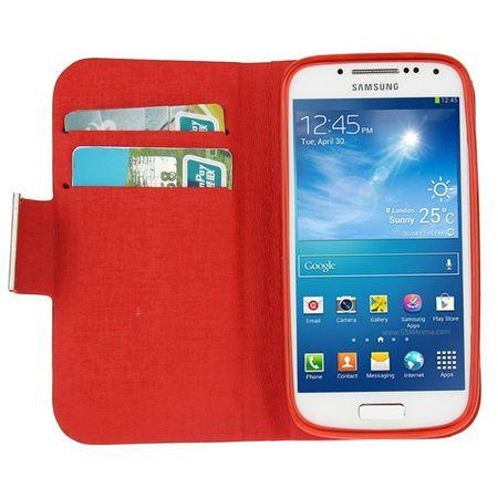 Schutzhülle Case (Flip Quer) für Handy Samsung Galaxy S4 i9190 mini Rot – Bild 4