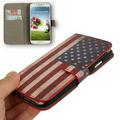 Schutzhülle Case USA (Flip Quer) für Handy Samsung Galaxy s4 i9500 001