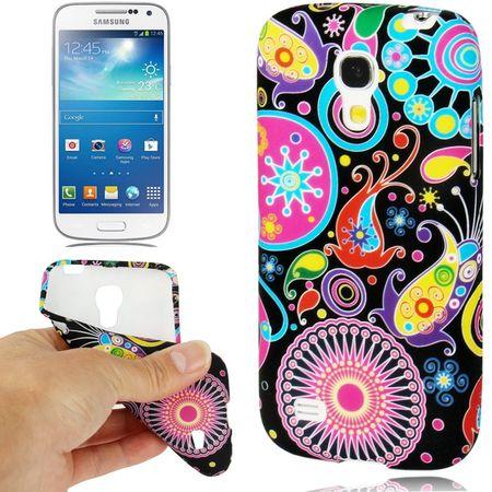 Schutzhülle TPU Case für Handy Samsung Galaxy S4 mini i9190 bunt