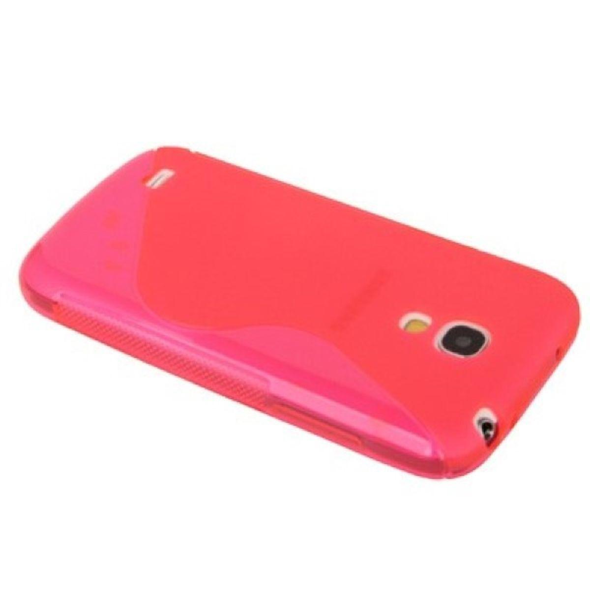 Schutzhülle S - Curve TPU Case für Handy Samsung Galaxy S4 mini i9190 Transparent Pink