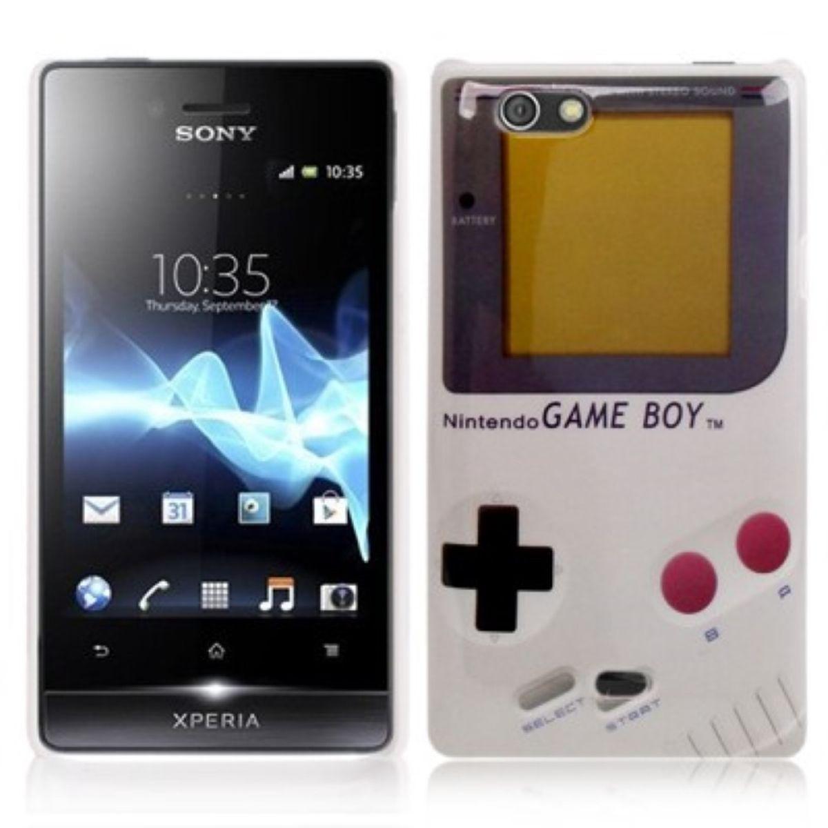 Hard Case Hülle Gameboy für Handy Sony Xperia miro ST23i