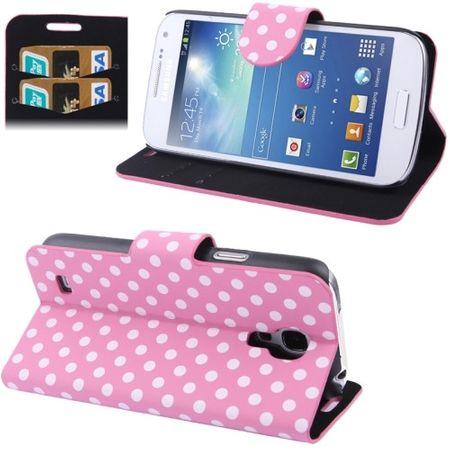 Schutzhülle Handytasche (Flip Quer) für Handy Samsung Galaxy S4 mini i9190 Rosa