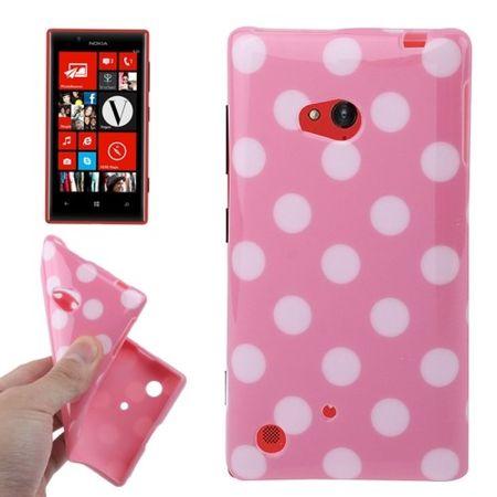 Schutzhülle TPU Case für Handy Nokia Lumia 720 Pink / Weiß