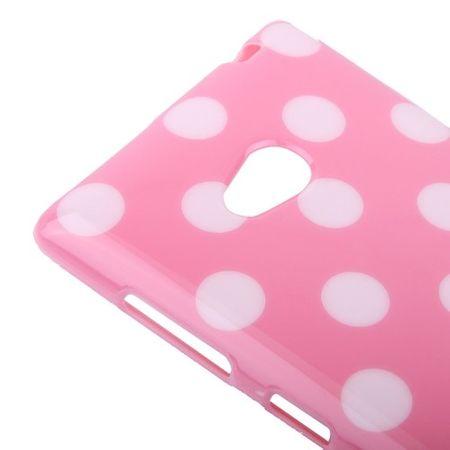 Schutzhülle TPU Case für Handy Nokia Lumia 720 Pink / Weiß – Bild 3