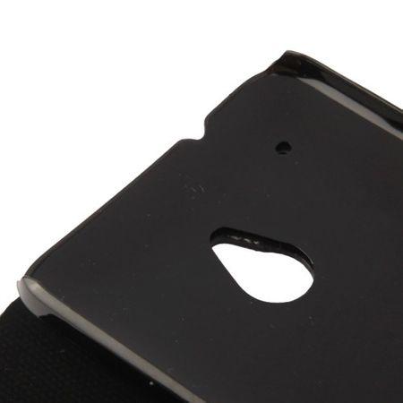 Schutzhülle Handytasche (Flip Quer) für Handy HTC One mini M4 Schwarz / Pink – Bild 6