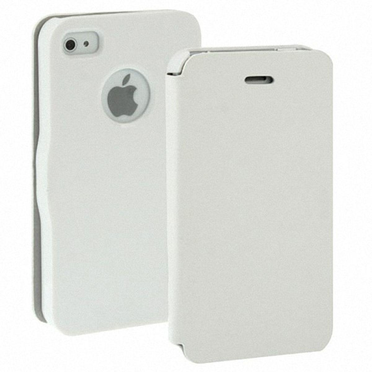 Schutzhülle Quer Case für Handy Apple iPhone 4 / 4s Weiß