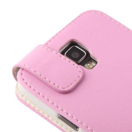 Schutzhülle Flip Tasche für Handy Samsung Galaxy S4 Active GT-I9295 Rosa – Bild 5