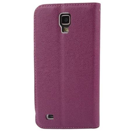 Schutzhülle Case (Flip Quer) für Handy Samsung Galaxy S4 Active GT-I9295 Violet – Bild 4