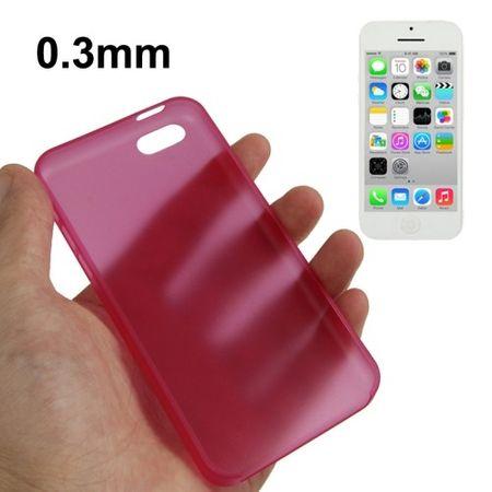Schutzhülle Case Ultra Dünn 0,3mm für Handy Apple iPhone 5C Pink