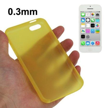 Schutzhülle Case Ultra Dünn 0,3mm für Handy Apple iPhone 5C Gelb – Bild 1