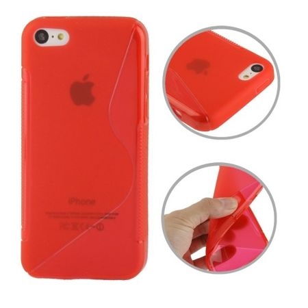 Handyhülle TPU Case für Handy Apple iPhone 5C Rot