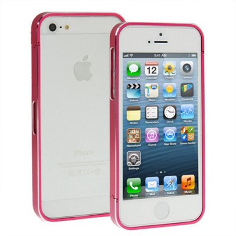 schutzh lle aluminium bumper f r handy apple iphone 5 5s rot. Black Bedroom Furniture Sets. Home Design Ideas