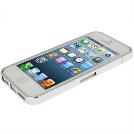 Schutzhülle Aluminium Bumper für Handy Apple iPhone 5 & 5S silber – Bild 3