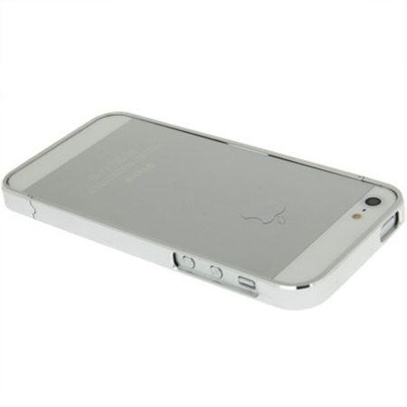 Schutzhülle Aluminium Bumper für Handy Apple iPhone 5 & 5S silber – Bild 4