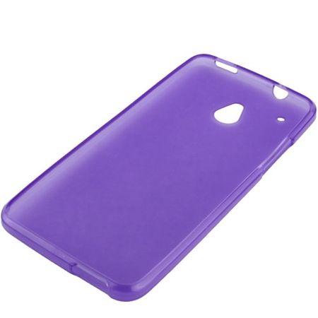 Schutzhülle TPU Case für Handy HTC One mini M4 Lila Transparent – Bild 2