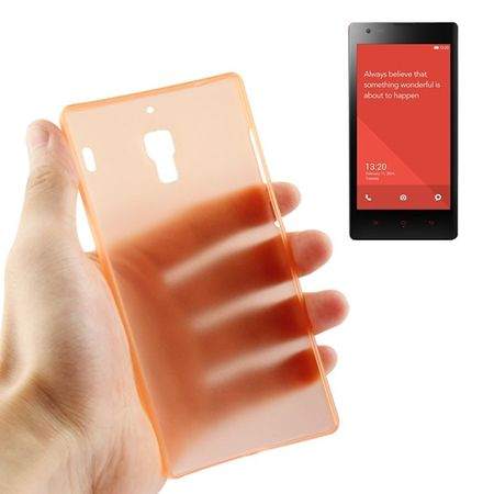 Schutzhülle Case Ultra Dünn 0,3mm für Handy Xiaomi Redmi Orange Transparent
