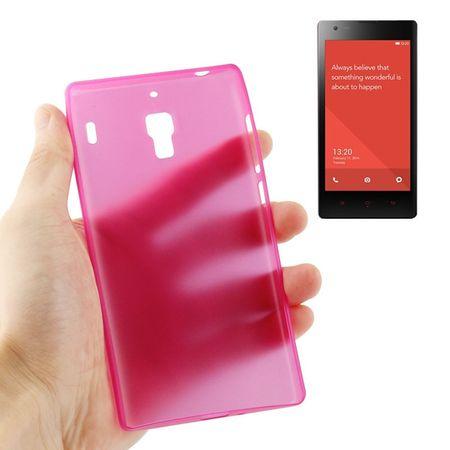 Schutzhülle Case Ultra Dünn 0,3mm für Handy Xiaomi Redmi Pink Transparent