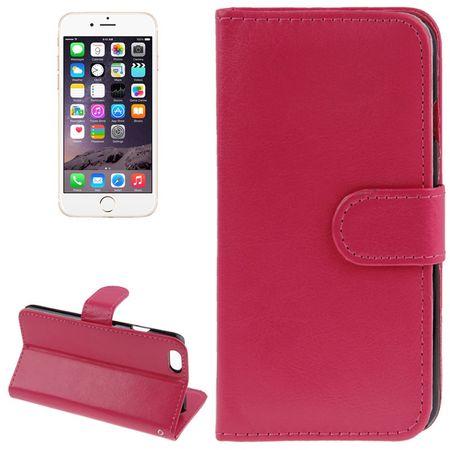 Schutzhülle Handytasche (Flip Quer) für Handy Apple iPhone 6 Pink