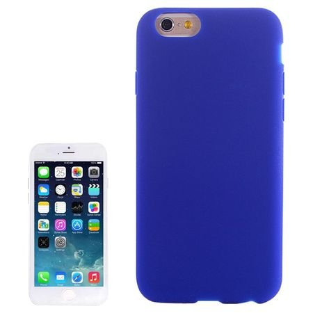 Apple iPhone 6 Plus Handy Hülle Silikon Blau / Dunkelblau