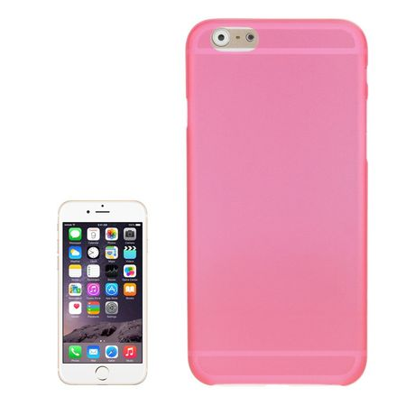 Schutzhülle Case Ultra Dünn 0,3mm für Handy Apple iPhone 6 Plus Pink Transparent