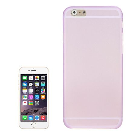 Schutzhülle Case Ultra Dünn 0,3mm für Handy Apple iPhone 6 Plus Lila / Violett Transparent