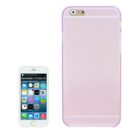 Schutzhülle Case Ultra Dünn 0,3mm für Handy Apple iPhone 6 Lila / Violett Transparent