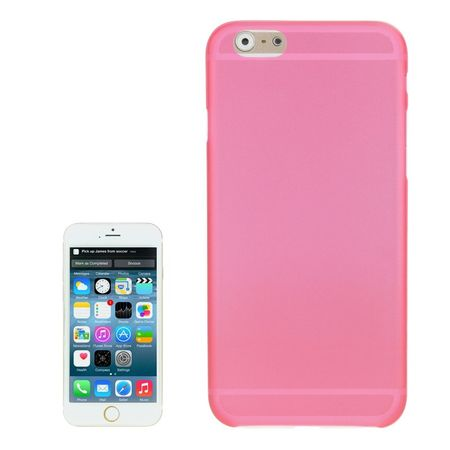 Schutzhülle Case Ultra Dünn 0,3mm für Handy Apple iPhone 6 Pink Transparent