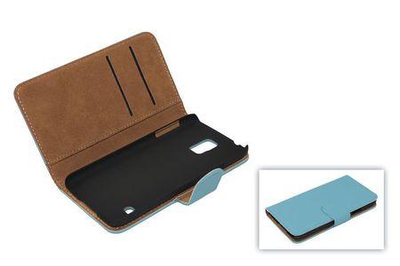 Schutzhülle Handytasche (Flip Quer) für Handy Samsung Galaxy S4 i9500 Hellblau