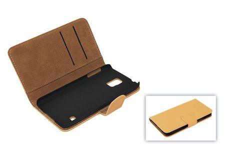 Schutzhülle Handytasche (Flip Quer) für Handy Apple iPhone 5 / 5s Hellbraun / Beige