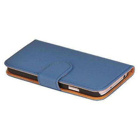 Schutzhülle Handytasche (Flip Quer) für Handy Apple iPhone 5 / 5s Dunkelblau