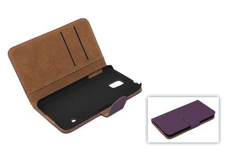 Schutzhülle Handytasche (Flip Quer) für Handy Apple iPhone 5 / 5s Lila / Violett