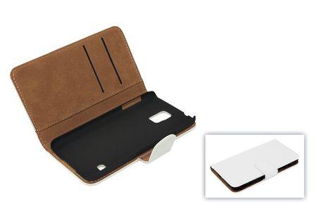 Schutzhülle Handytasche (Flip Quer) für Handy Apple iPhone 5 / 5s Weiss