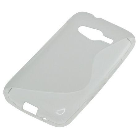 OTB TPU Case kompatibel zu Samsung Galaxy Ace 4 G313H S-Curve transparent