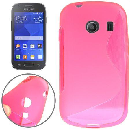 Handy Hülle Schutztasche für Samsung Galaxy Ace Style (G357) S-Curve pink