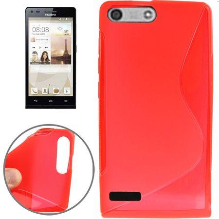 Handy Hülle Schutztasche für Huawei Ascend P7 mini Rot