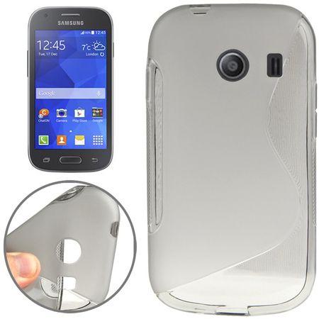 Handy Hülle Schutztasche für Samsung Galaxy Ace Style (G357) S-Curve Grau