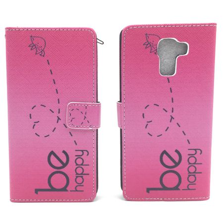 Handyhülle Tasche für Handy Huawei Honor 7 Be Happy Pink