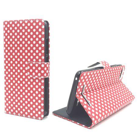 Handyhülle Tasche für Handy Wiko Lenny 3 Polka Dot Rot
