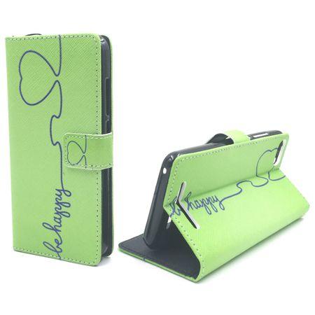 Handyhülle Tasche für Handy Wiko Lenny 3 Be Happy Grün