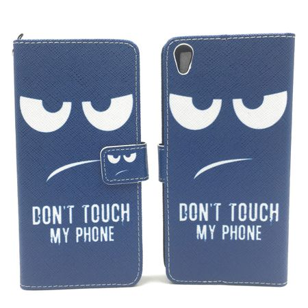 Handyhülle Tasche für Handy Sony Xperia XA Dont Touch my Phone
