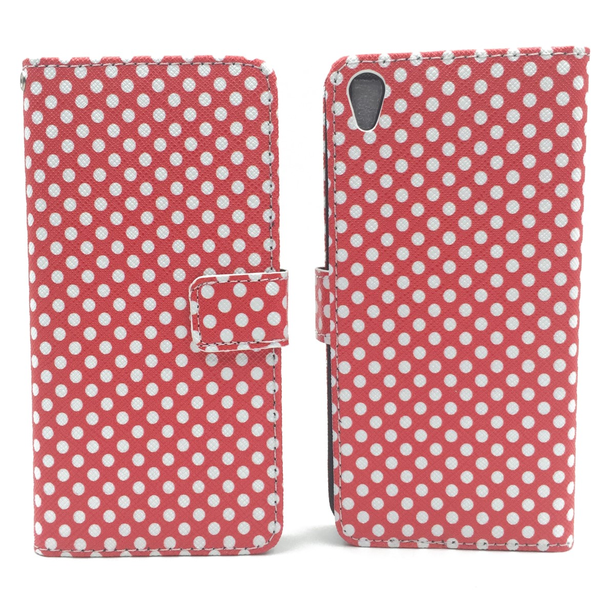 handyh lle tasche f r handy sony xperia xa polka dot rot. Black Bedroom Furniture Sets. Home Design Ideas