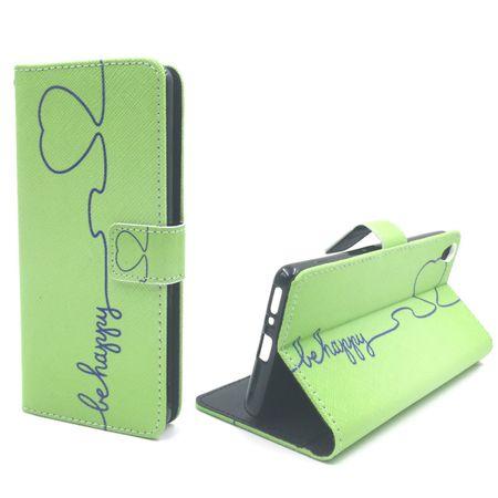 Handyhülle Tasche für Handy Sony Xperia XA Be Happy Grün