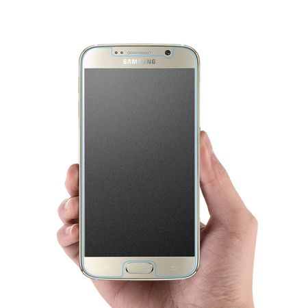 Panzer Glas für Samsung Galaxy S6 Echt Schutz Folie Handy Matt